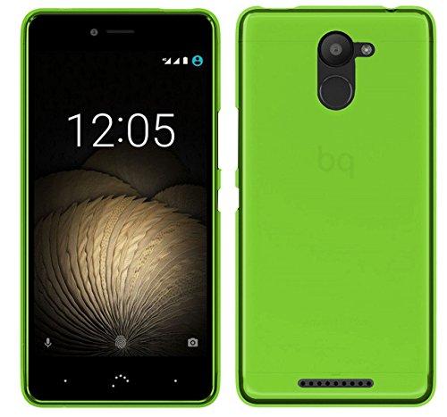TBOC® Grün Gel TPU Hülle für bq Aquaris U Plus (5.0 Zoll) Ultradünn Flexibel Silikonhülle