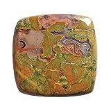 100% naturale diaspro riolite forestale pluviale, dimensioni 27 x 27 x 5 mm, creazione di gioielli, ciondoli, pietra sfusa AG-13374