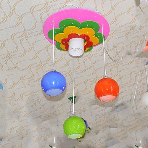 Doppel-Saug-hängenden Blumen-Anhänger Lampe Kinderzimmer Baby-Cartoon Jungen und Mädchen mit Schlafzimmer Deckenbeleuchtung - 2