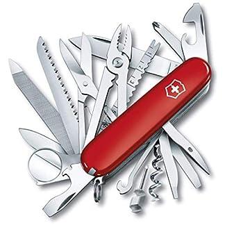 Victorinox Taschenwerkzeug Offiziersmesser Swiss Champ Rot Swisschamp Officer's Knife, Red, 91mm 1