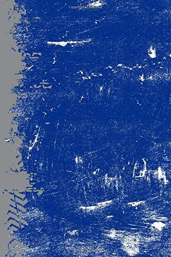 Blue And Gray: (6 x 9 Dot Grid) Blank Journal Grunge School Color Notebook por Belle Journals