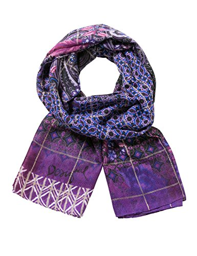 Desigual Damen Schal FOULARD_RECTANGLE Boho, Rot (Rio Red 3080), One Size (Herstellergröße: U)