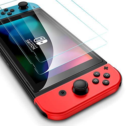 ESR Panzerglas Schutzfolie für Nintendo Switch [2 Stück]- Ultra klarer 9H Glas Displayschutz [Stoßfest bis zu 5kg] mit Montageset - Kratzfester Panzerfolie Screen Protector