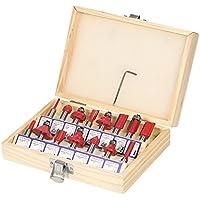 KKmoon 15 juegos de fresas de 8 mm conjunto Carpintería talla fresado eléctrico máquina de corte especial fresadora