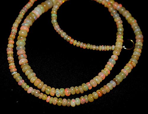 Welo Fire Opal 3-5,5mm glatt Perlen Form 40,6cm neclaces ()