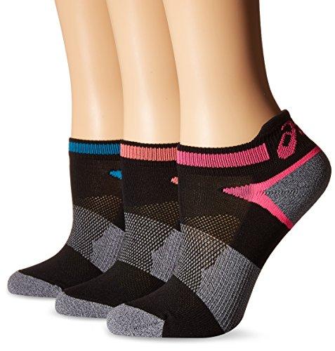Kissen Tab Socke (Asics Damen Laufsocken, schnelle Lyte Kissen der einzelnen Tab, 3Stück Medium Black Assorted)