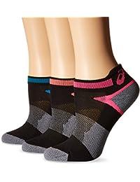 ASICS Calcetines de running con leng¨¹eta Quick Lyte Cushion para mujer, negro surtido