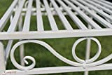 Versailles Metal Side Table or Plant Stand in Antique White Finish (Small Size)- Ideal for the Home or Garden