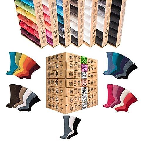 #NEU [7+5 Paar.GRATIS] AirSox® Deluxe|BOX Made.in.EU Herrensocken Damensocken 100% Organische Baumwolle | Damit Deine Füße ATMEN | Sneakersocken Sportsocken Business Schwarz Blau Bunt Weiß