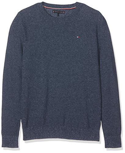 Tommy Hilfiger Jungen Pullover Twisted Rice Corn Sweater, Blau (Black Iris 002), 104 (Herstellergröße: 4)