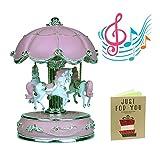 iGutech Boîte à musique carrousel, boîte à...