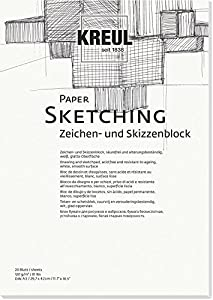 KREUL 69003-Paper Sketching, Caracteres y Bloc de Dibujo, DIN A3, 20Hojas