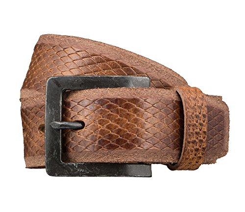 LLOYD Men's Belts Gürtel Herrengürtel Ledergürtel Herrenledergürtel Beige 3423, Farbe:Braun, Länge:105