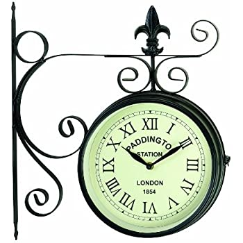 gardman paddington station double sided clock