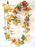 HKT Home Deco Herbstgirlande Herbstblätter Laub Herbst Blättergirlande Tischdeko Girlande künstlich Fensterdeko Dekogirlande Deko 78 Blätter 180cm - 5