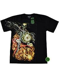 T-Shirt clouté Rock Chang Heavy Metal Biker Tattoo Rocker Gothic Survivors (4033)