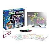 Schimer Magical Book, Leuchtendes Zeichenbrett 3D Magic Drawing Pad Lichteffekte Puzzle Board Kinder 3D Sketchpad Tablet Stift Geschenk LEDs Lichter Glow Art Zeichnung Spielzeug