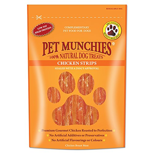 Pet Munchies Natural Chicken Strips, 90 g (Pack of 8)