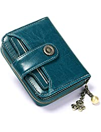 Leather Long Wallet Female Two Fold Thin Multi-Function Wallet Female