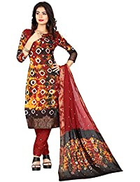 Taboody Empire Model Multi Satin Cotton Handi Crafts Bandhani Work With Straight Salwar Suit For Girls And Women