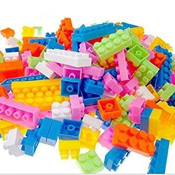 Happy GiftMart Kid's Plastic Lego Building Blocks Educational Kids Puzzle Construction Toy - Set of 88 Pieces (5VBLOCKSMALL88PCS2, Multicolour)