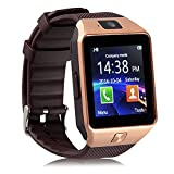 Yuntab SW01 Smart Watch Bluetooth 3.0 or above Android/ iOS Phone/Pedometer Intelligent Watch and Sedentary Reminder (Gold)