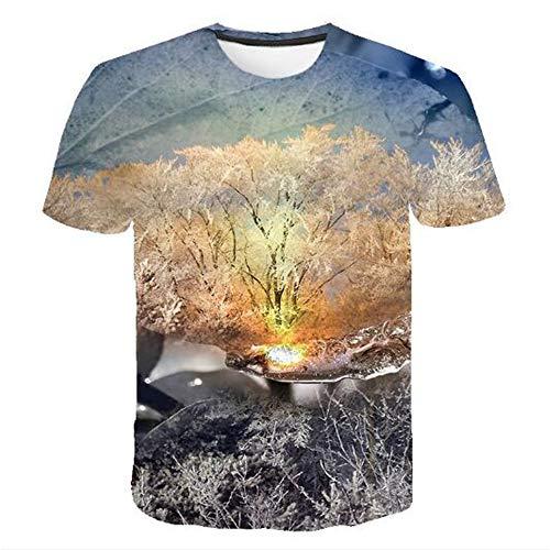 Bedruckte Herren T-Shirts für den Sommer Vintage und Urlaub Lässige Neuheit Cool Travel T-Shirt mit kurzen Ärmeln,Lässige 3D-Cartoon - V Farbe S -