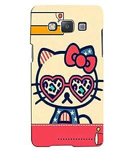 Citydreamz Hello Kitty Cartoon/Cute Hard Polycarbonate Designer Back Case Cover For Samsung Galaxy A8