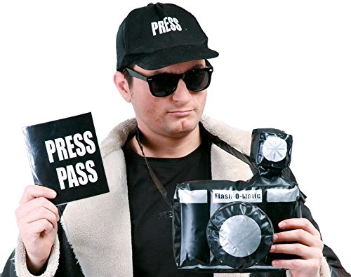 Paparazzi Presse Set für (Kostüm Reporter)