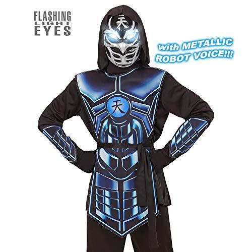 Widmann 07917 Kinderkostüm Cyber Ninja, 140 cm (Cyber Kostüm)
