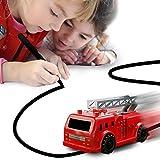 Induktive Auto Spielzeug Set Induktives für Kinder Autopilot Magic Inductive Car Toy Set Geburtstag Geschenke (Fire-Engine)