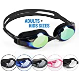 COPOZZ Swimming Goggles Come With Oversized Double Anti-Fog Mirrored Lenses And 3D Silicone Seals Giving Swimmers Crystal Clear Vision And No Leaking, Suitable for Adults Men Women and Kids 10+, Gold