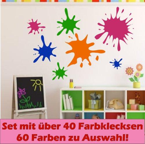 cke, Wandtattoo, 40-teilig, ca. 15-5 cm Durchmesser Fliesentattoo Kinderzimmer Deko (Einfache Promotion-dekorationen)