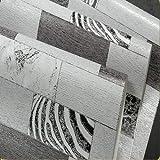 KYKDY Tapeten Supermarkt Retro Nostalgie Holz- Wallpaper Vliesstoffe Leopard Muster Tapete Wohnzimmer TV Hintergrundbild, Gelb, 53 CM X 10 M