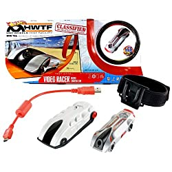 Hot Wheels Year 2012 Test Facility Series Video Racer Micro Camera Test Model Car Playset With Silver Protective Action Case, Silver Car With Built In Lcd Screen On Back, Red Usb Cable, 4 Mounting Brackets, 2 Adhesive Strips And 1 Adjustable Strap (Tracks Are Not Included)
