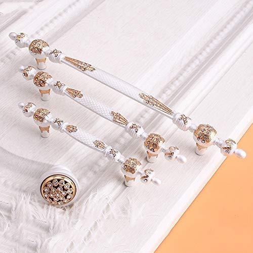 6PCS Fach-Diamant-Einzelnes Loch-Zink-Legierungs-Griff 36.8/96 / 128mm, Möbel-Garderobenschrank-Hardware-Moderner Schlafzimmer-Griff