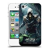 Head Case Designs Offizielle Assassin's Creed Edward Tschungel Schwarze Fahne Schluessel Kunst Ruckseite Hülle für iPhone 4 / iPhone 4S