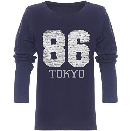 fa10bf93d9 BEZLIT Jungen Langarmshirt Wende-Pailletten 86 Long T-Shirt 21730 Blau  Größe 152