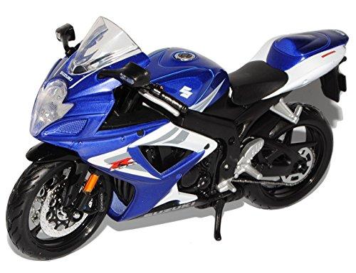 Suzuki-GSX-R750-Blau-112-Maisto-Modell-Motorrad-mit-oder-ohne-individiuellem-Wunschkennzeichen