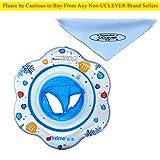 UClever Baby Kleinkinder Schwimmreifen Schwimmsitz Schwimmer und Rasseln Spielzeug Cartoon Blume (Blau)