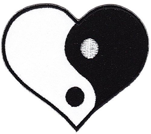 Yin Yang Herz Aufnäher Bügelbild