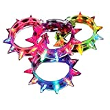 Ultra ® Packs of 6 - 96 Mixed Colour Spike Flashing LED Bracelets Spikey Quality Glowing Adjustable Light Up Illuminating Bracelet for Parties Raves Birthdays Dances and Events Celebrations Party Bags Hen Dos Stag Dos Dance Rave and Concerts Glow Bracelet Red Blue Green Orange Yellow