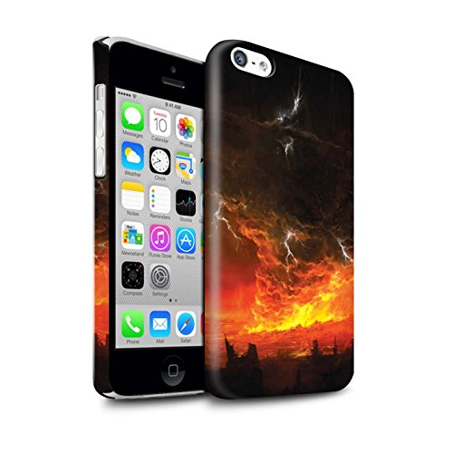 Offiziell Chris Cold Hülle / Glanz Snap-On Case für Apple iPhone 5C / Gift Haupt Muster / Gefallene Erde Kollektion Apokalypse