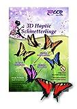 Schmetterlinge 3d samtig, Rot, 10 Stück, Schmetterling Deko Made in Germany Schmetterling Wanddeko auf Papier Karton Wandtattoo Aufkleber mit Klebepunkt zum Basteln wie echt Party Tapete Wand