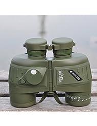 Gearmax® 10X50 a prueba de agua a prueba de choques deportes militar Óptica Telescopio Binocular Alcance de la localización con brújula