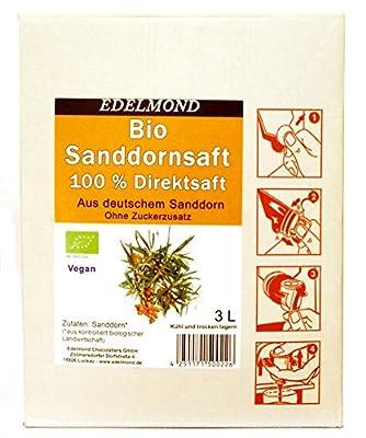 Bio deutscher Sanddornsaft 3 liter - Direkt gepresster Muttersaft aus ökologischem Anbau