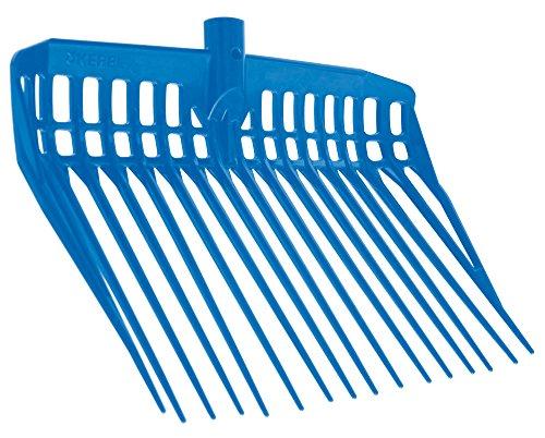 Kerbl EcoFork Fourche à Copeaux sans Manche pour Élevage/Agriculture Urbaine Bleu