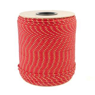 20m POLYPROPYLENSEIL 5mm ROT Polypropylen Seil Tauwerk PP Flechtleine Textilseil Reepschnur Leine Schnur Festmacher Rope Kunststoffseil Polyseil geflochten