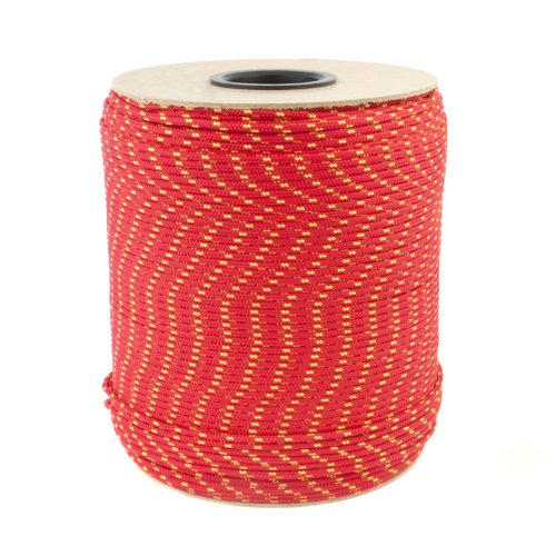 20m red polypropylene rope poly cord 10mm