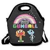 bakeiy el asombroso mundo de Gumball Rainbow Lunch Tote bolsa caja de almuerzo neopreno bolso para niños y adultos para viajes y Picnic escuela